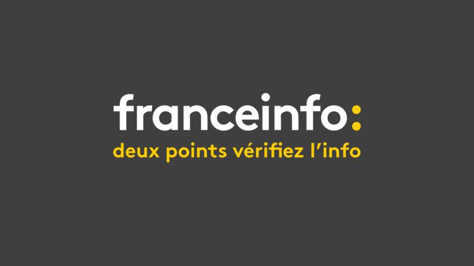 """Détournement du slogan de France Info, """"France Info, deux points vérifiez l'info""""."""